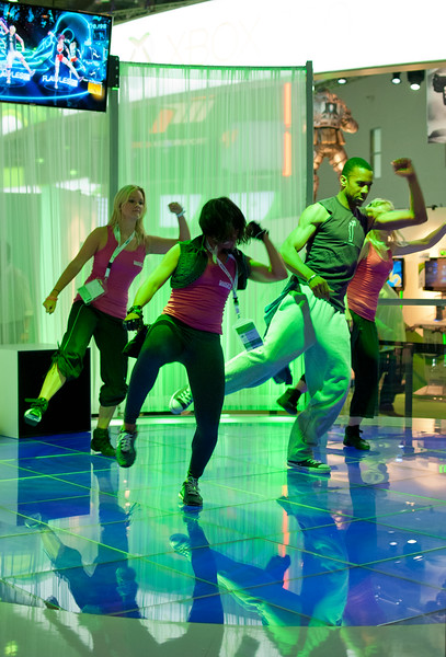 Dancers at GamesCom 2011