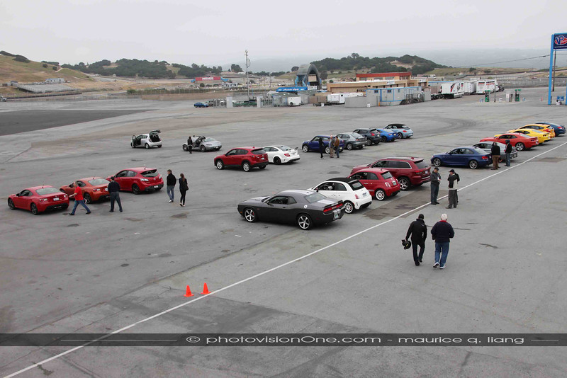Day 2 is at Mazda Raceway at Laguna Seca for on-track driving.