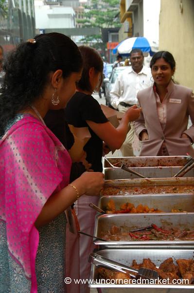 Indian Women on Lunch Break - Kuala Lumpur, Malaysia