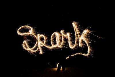 sparklerWriting