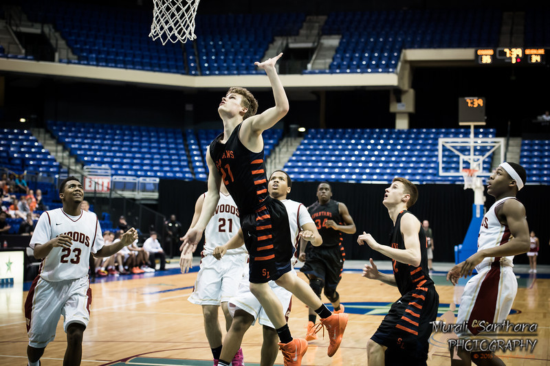 02-25-2014 - 2013-14 UIL Boys State Basketball Championships - Seven Lakes High School vs Cypress Woods