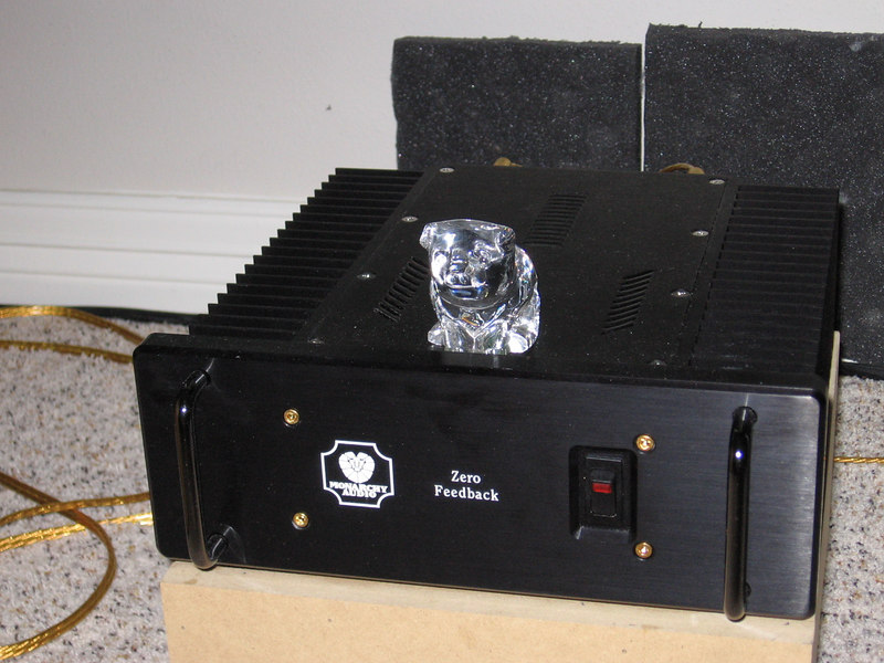 Solid state amps can sometimes sound harsh and bright, but the crystal piggie tweak restores the crystal clarity of an original master tape. Selling for $100, this Waterford crystal piggie is the 2nd most expensive tweak on this page, and is therefore the 2nd most effective.