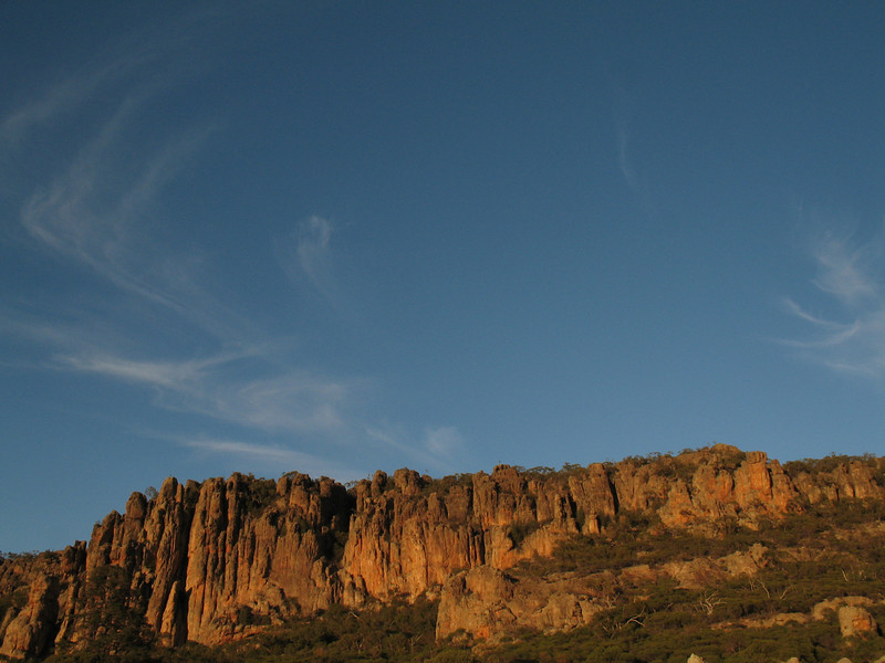 The Organ Pipes on Mt Arapiles, Victoria.Photo: Trent