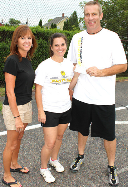 Check Donation from Basketball Team to Recreation Organization, Summit Hill (7-28-2011)