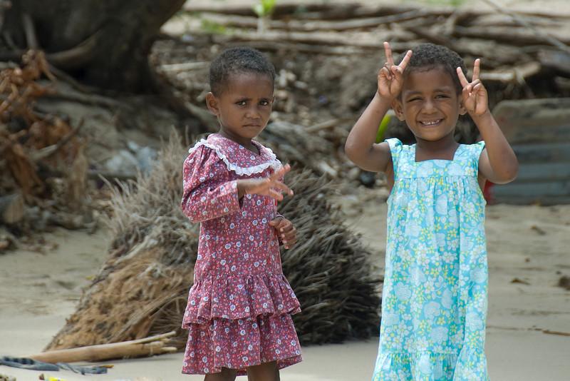 Local girls in Yasawa Islands, Fiji
