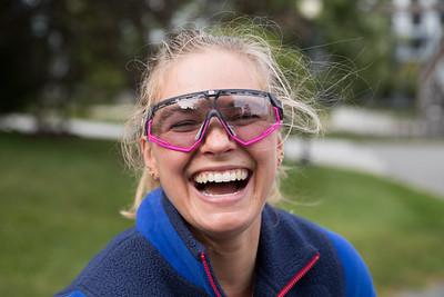 Jessie Diggins training in Vermont