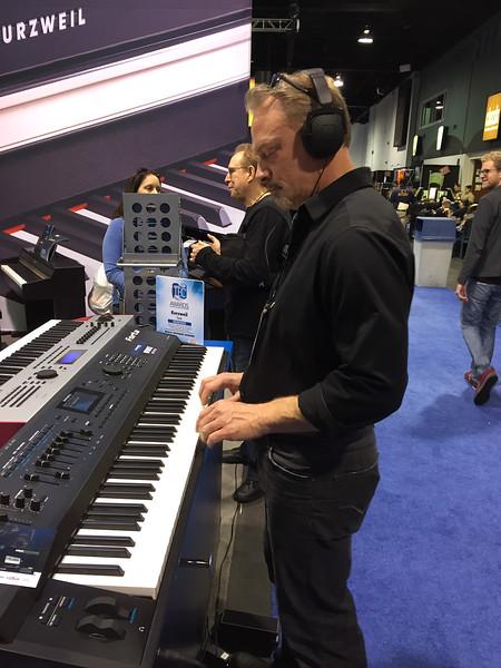 NAMM 2013 Kurzweil booth