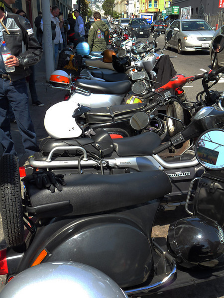 The lineup outside Scooter Works