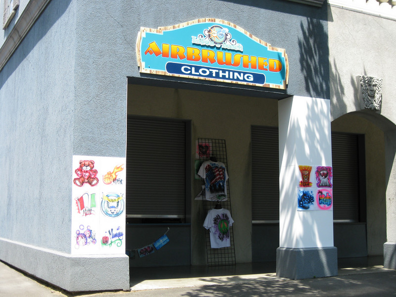 There was a new airbrush clothing concession in the Ghost Hunt building.