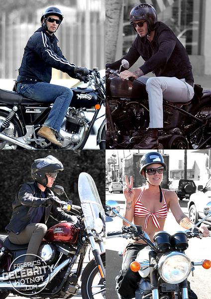 Celebrities on Motorbikes!