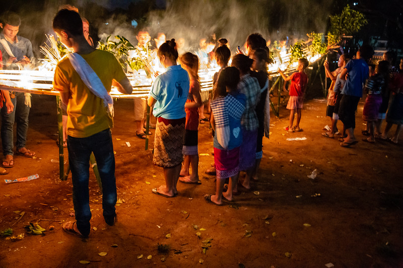 Ceremony Commemorating the End of Buddhist in Tad Lo, Laos