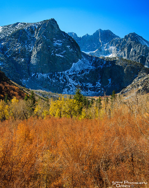 Sierra Nevada Mountians and fall color, Bishop Creek Canyon