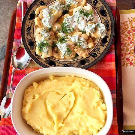 Quick-Braised Cod With Herbed Yogurt