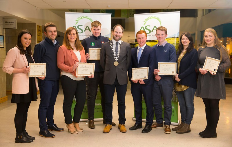 Pictured at the Waterford Institute of Technology- ASA (Agricultural Science Association) Student Mock Interviews. Pictured are .Alison Daly, Dr. Michael Breen, Programme Leader of BSc (Hons) in Argricultural Science WIT, Laura Grant, student, Liam Smith, student Derrie Dillon, President of ASA association, Sean McEnroe, student Shane Kenny, student, Dr. Siobhán Walsh, Lecturer & ASA Council member, Ellen Fitzpatrick, student. Picture: Patrick Browne