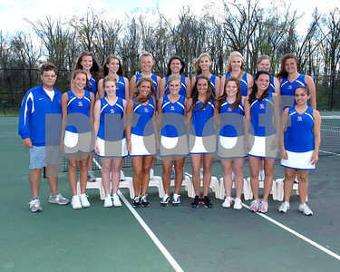 2009 Marshall County Girls Tennis Team April 21, 2009.