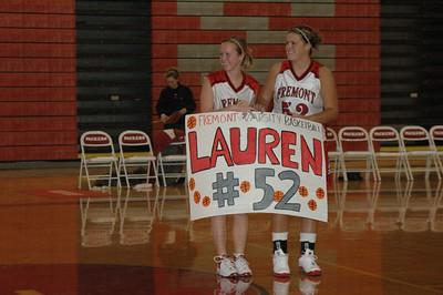 Girls Varsity Basketball  - 2005-2006 - 11/8/2005 vs. Newaygo JG