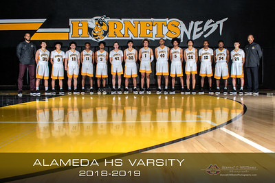 2019 Alameda High Basketball Varsity