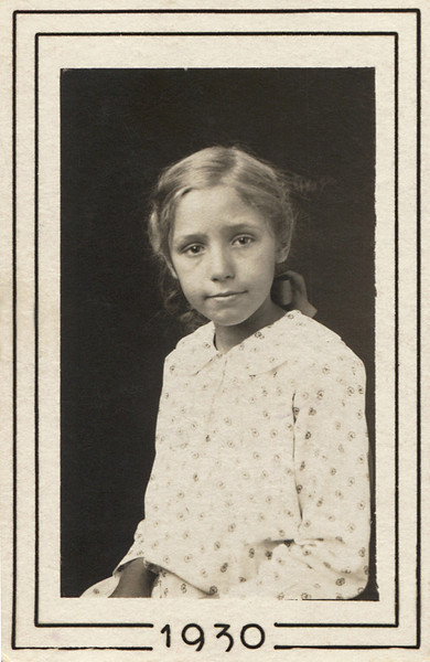 """Back of photo is marked: """"Ruby Doss""""  In 1930, Ruby would have been 8 or 9 years old."""