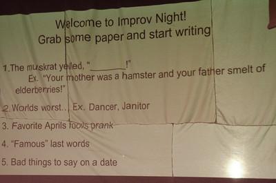 2015-04-01 Improv Night