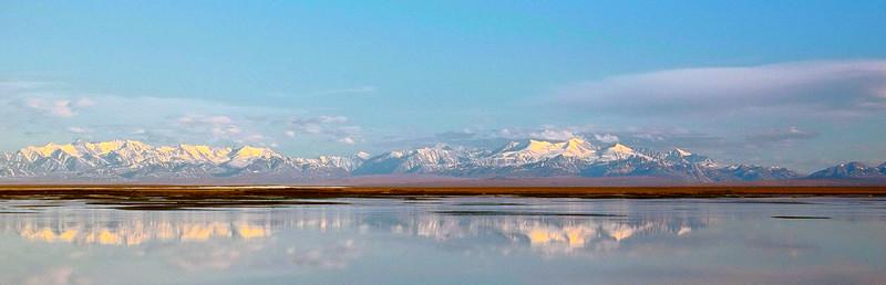 Brooks Range  over Coastal Plain from Arctic Ocean
