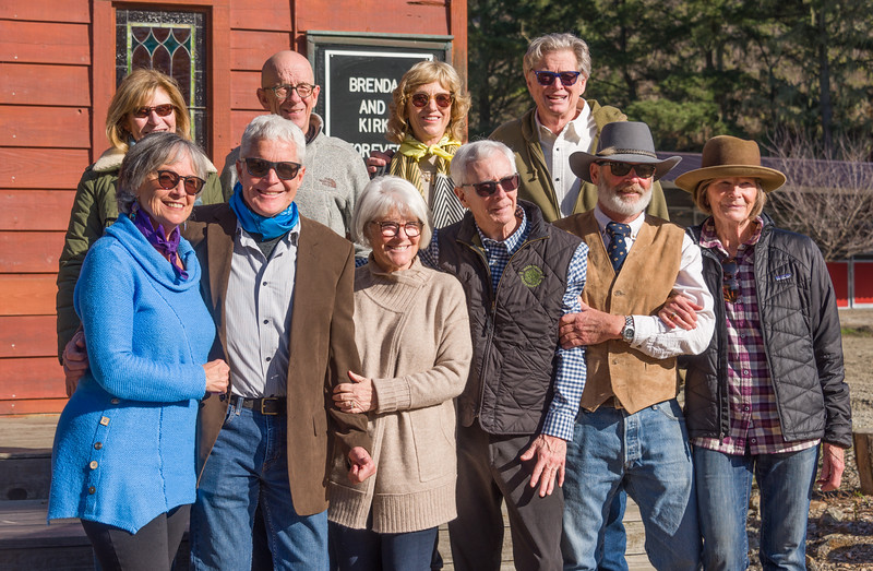 Buffs + wives: Patty/Hymie, Connie/Kevin, Brenda/Kirk, Kathay/Wiley, Walt/Helen