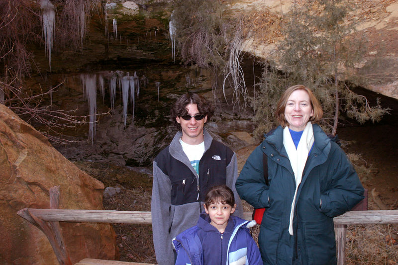 Linda, Anisa and Jeff by the spring that fed the cliff dwelling.