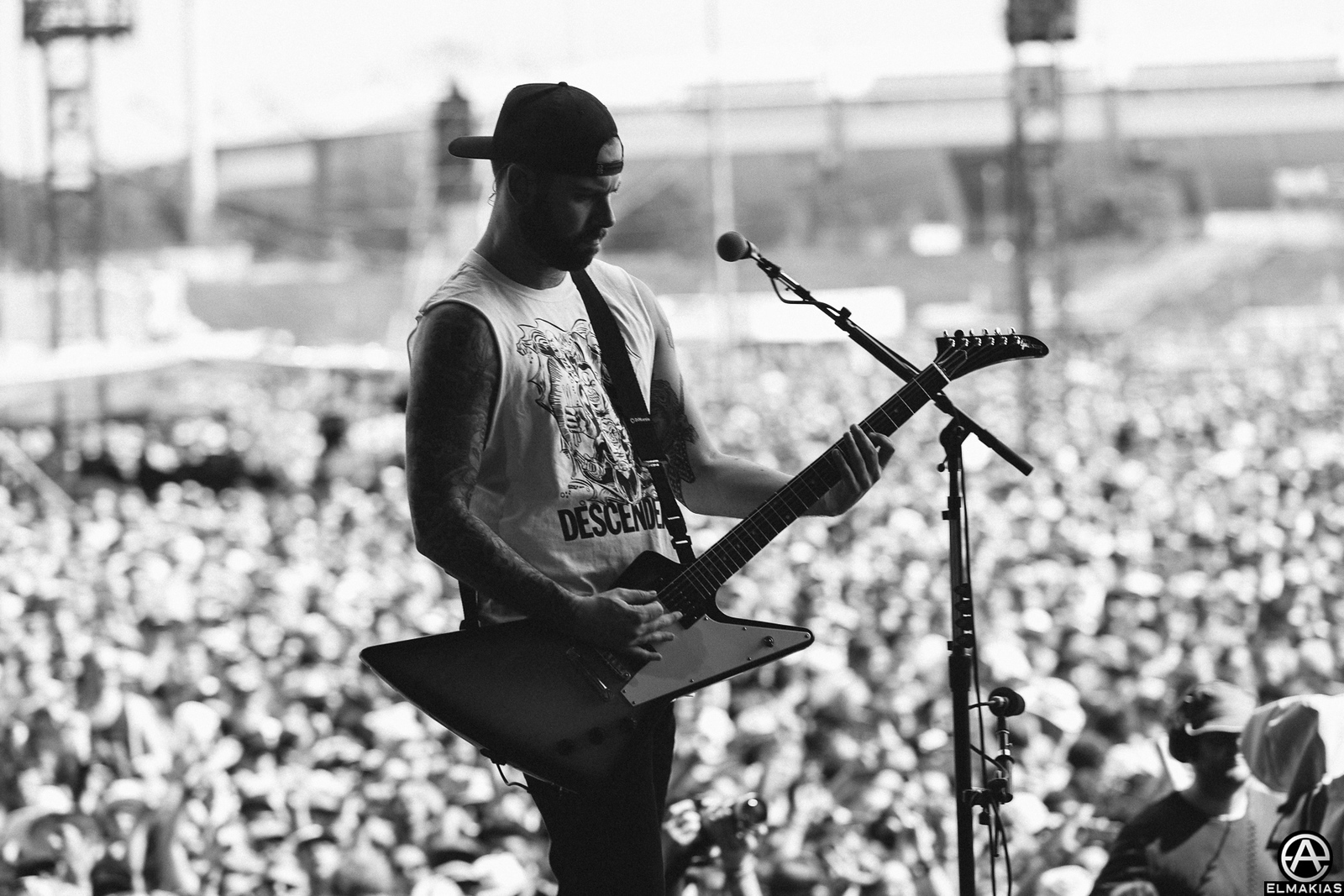 Kevin Skaff of A Day To Remember live at Rock IM Park