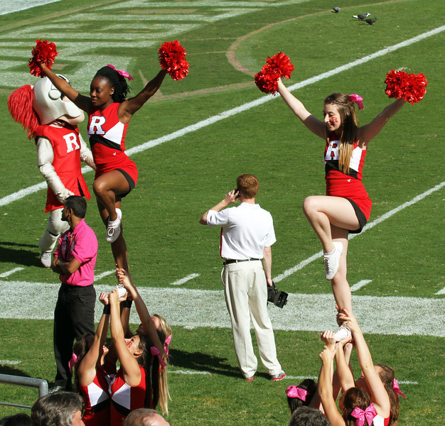 Rutgers cheerleaders have something to cheer about