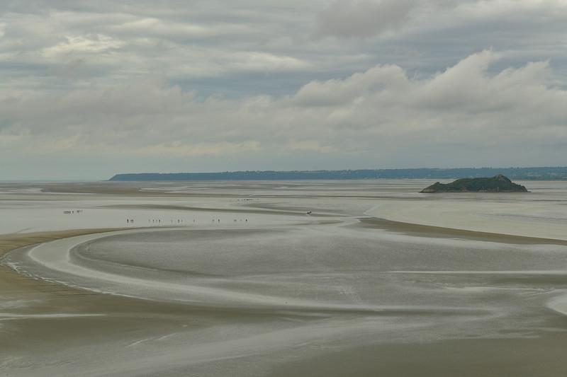 Mont Sainte Michel at low tide