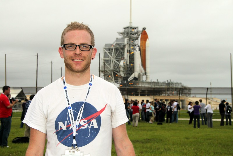 @DrBoddey with Space Shuttle Atlantis on Launch Pad 39-A