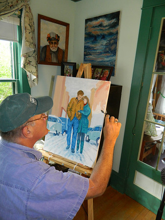 Painting in oils - from start to finish. Freewheelin'