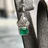 2.00ctw+ Emerald and Diamond Art Deco Conversion Earrings 19