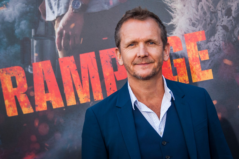 LOS ANGELES, CA - APRIL 04: Sebastian Roche arrives at the Premiere Of Warner Bros. Pictures' 'Rampage' at Microsoft Theater on Wednesday April 4, 2018 in Los Angeles, California. (Photo by Tom Sorensen/Moovieboy Pictures)