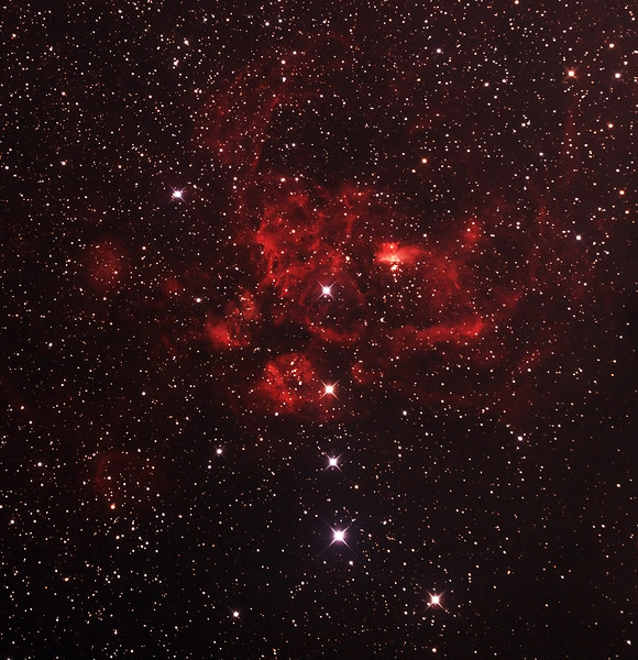NGC6357 - Gum 66 - War and Peace Nebula in Scorpius - 27/6/2014 (Processed cropped stack)