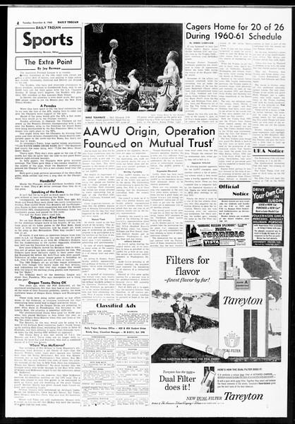 Daily Trojan, Vol. 52, No. 53, December 06, 1960
