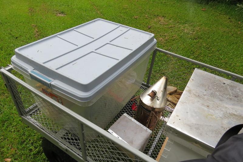 my new setup--a garden cart.JPG