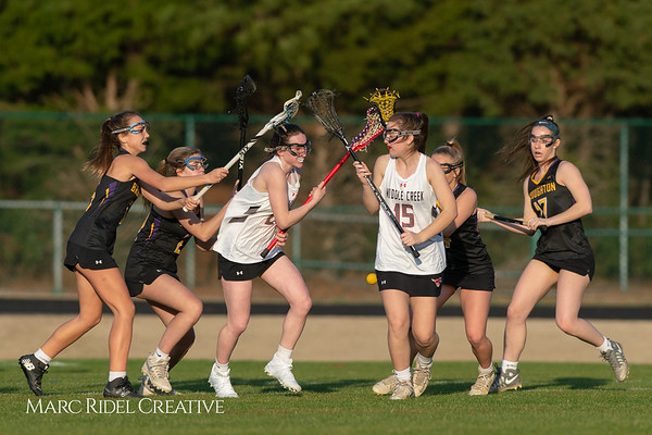 Broughton Lady Caps lacrosse at Middle Creek. February 26, 2019. D4S_1780