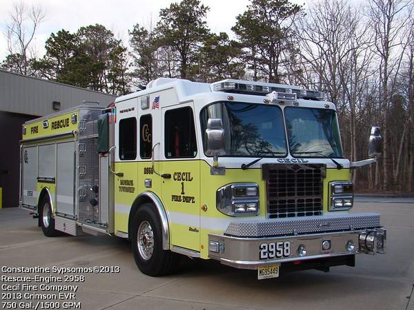 Cecil Fire Company - Monroe Township NJ - Rescue 2958