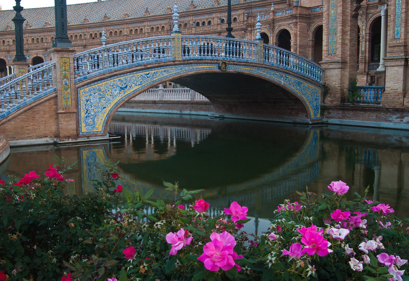 Pond and Bridge, Plaza de Espana