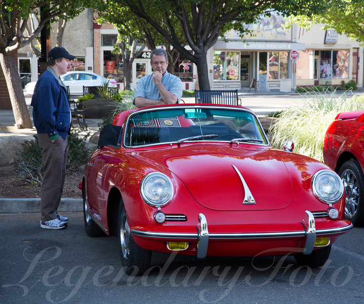 Red 1964 Porsche 356 Convertible