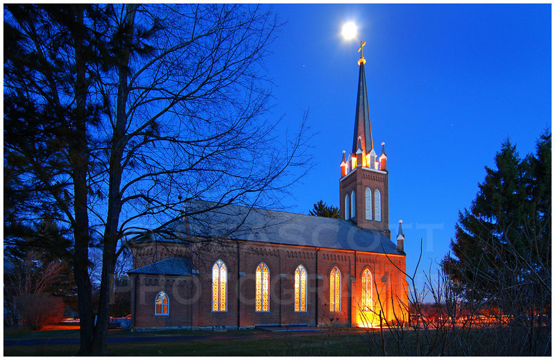 Old St. Patrick church.   Ann Arbor, Michigan.