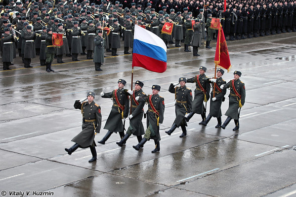 April 13th rehearsal in Alabino of 2012 Victory Day Parade