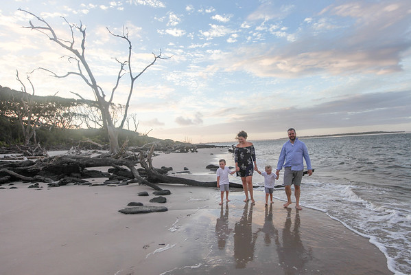 Broome Family, Little Talbot Island, Florida Driftwood Beach