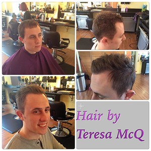Men's hair by Teresa McQueen