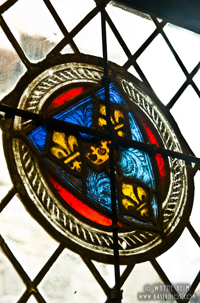 Shield  in Stained Glass    Photography by Wayne Heim