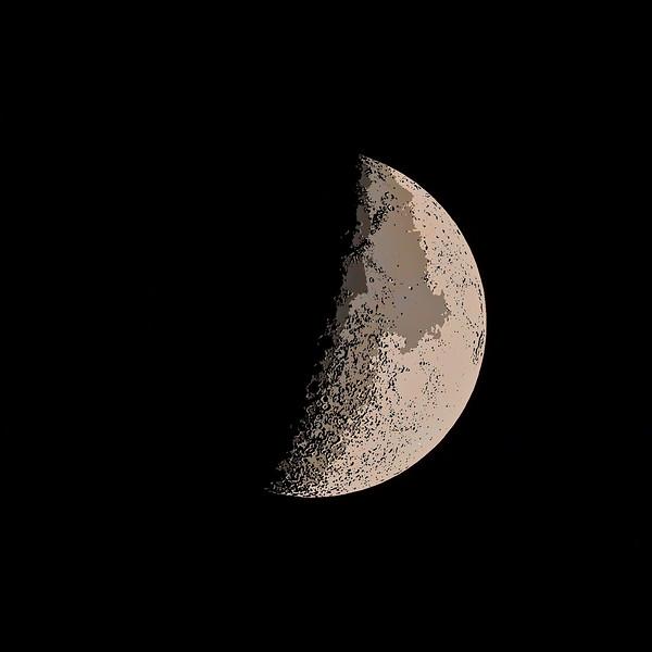 Crescent moon 46% key line