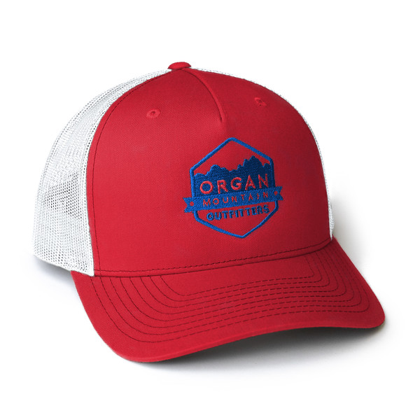 Organ Mountain Outfitters - Outdoor Apparel - Hat - Snapback Trucker Cap - Red White Blue.jpg