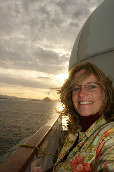 As we arrived in Alesund, Norway, the Attache took photos off the deck.