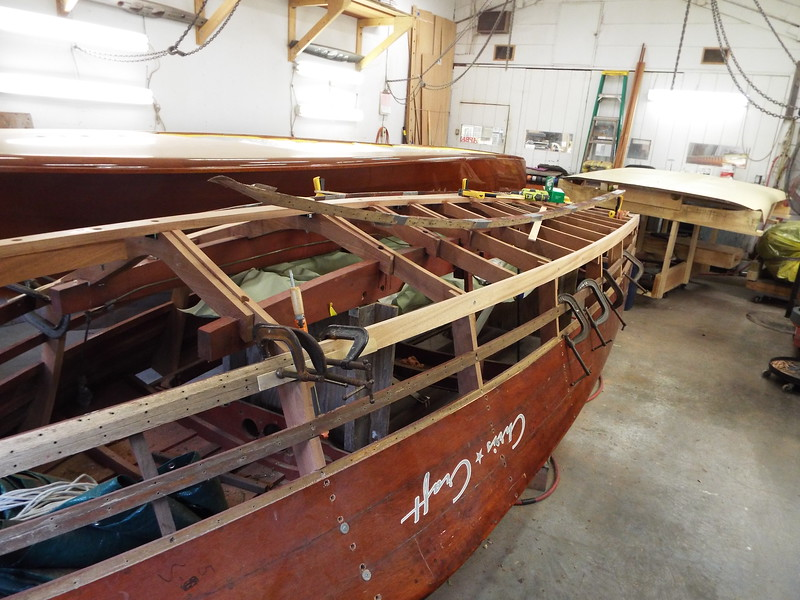 Front view of the new starboard chine fit.