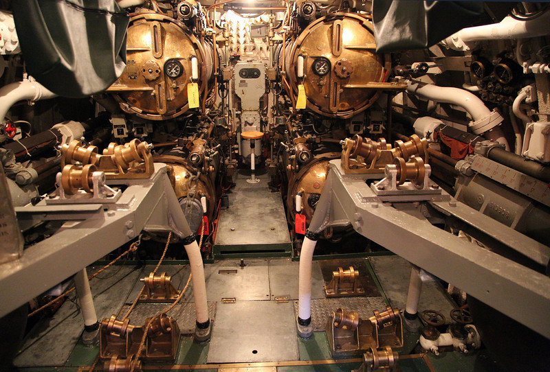 Cobia's aft torpedo room.